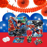 Justice League 16 Guest Party Pack + Deco Kit
