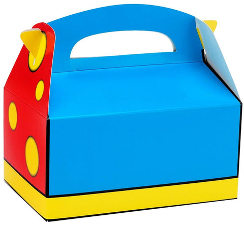 Blue, Red and Yellow Empty Favor Boxes