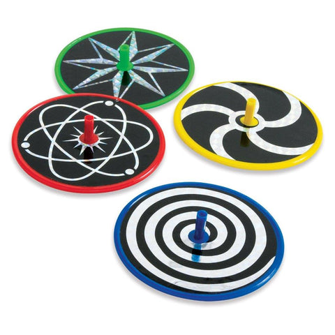 "3"" Laser Disc Spin Tops Assorted"
