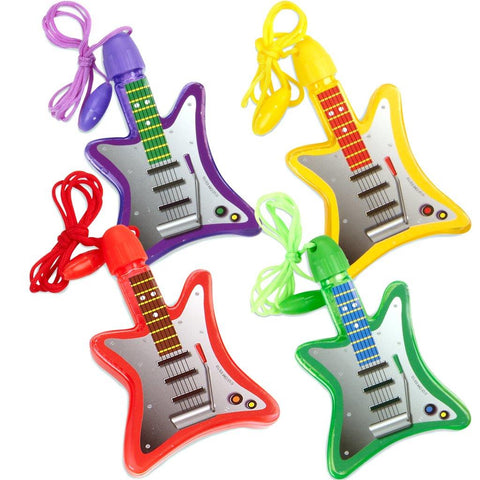 Bubble Guitar Necklaces Assorted