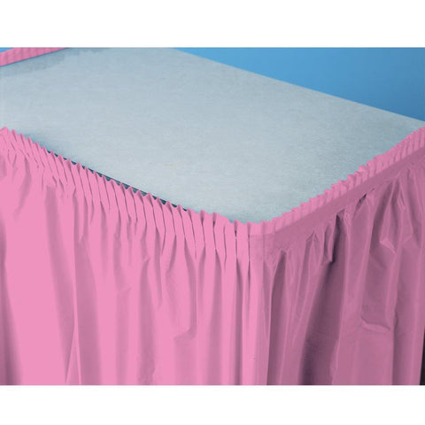 Candy Pink (Hot Pink) Plastic Table Skirt