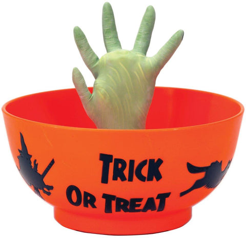 Animated Witch Hand Candy Bowl
