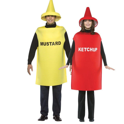 Adult Ketchup & Mustard Couples Costume