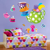 Alice in Wonderland Tea Party Giant Wall Decals