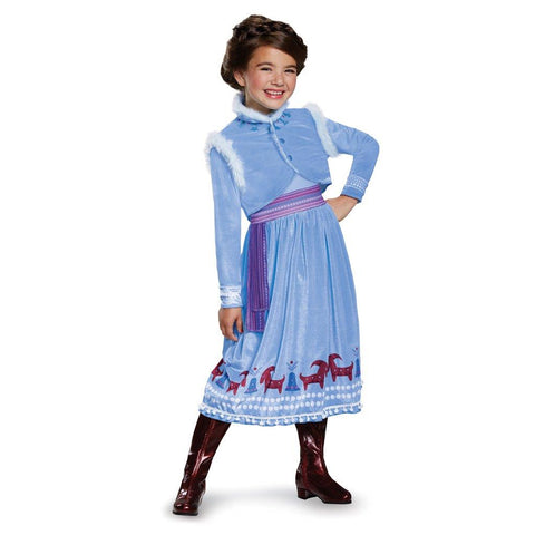 Anna Frozen Adventure Dress Deluxe Costume