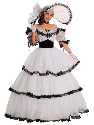 Southern Belle Black and White Adult Costume