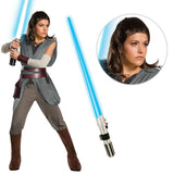 Star Wars Ep VIII: The Last Jedi - Women's Super DLX Rey Costume with Wig and Lightsaber