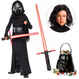 Star Wars Episode VIII: The Last Jedi - Kylo Ren DLX Child Costume with Wig and Lightsaber