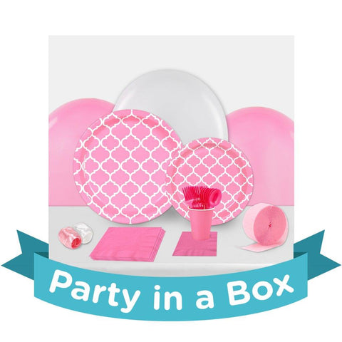 Candy Pink Quatrefoil Party in a Box