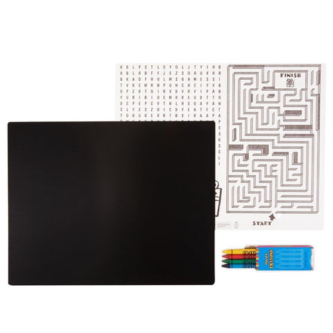 Black Activity Placemat Kit for 4