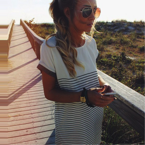Don't Panic Striped Dress