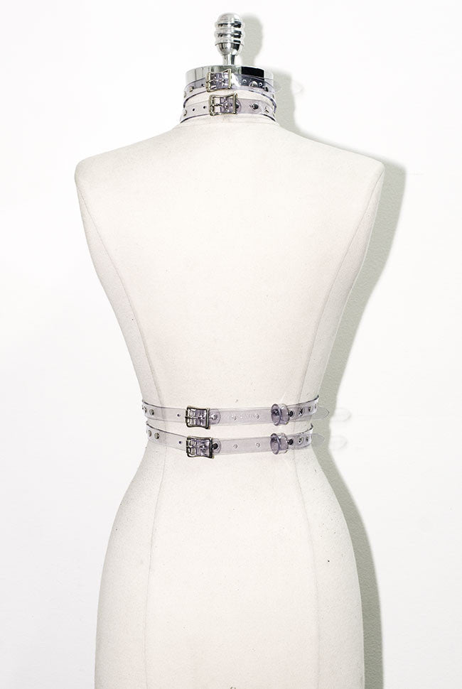 Gigi Harness - Studded - Clear PVC