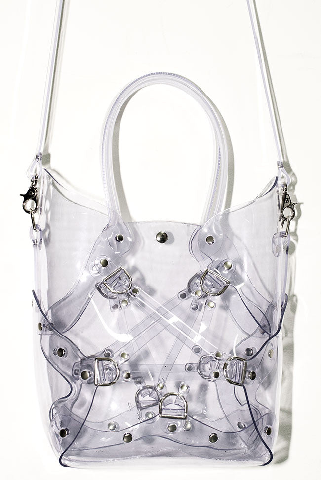 Pentagram Handbag - Clear PVC