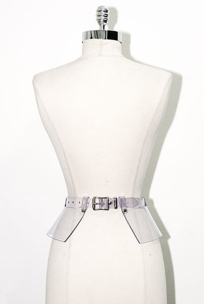 Peplum Belt - Clear PVC
