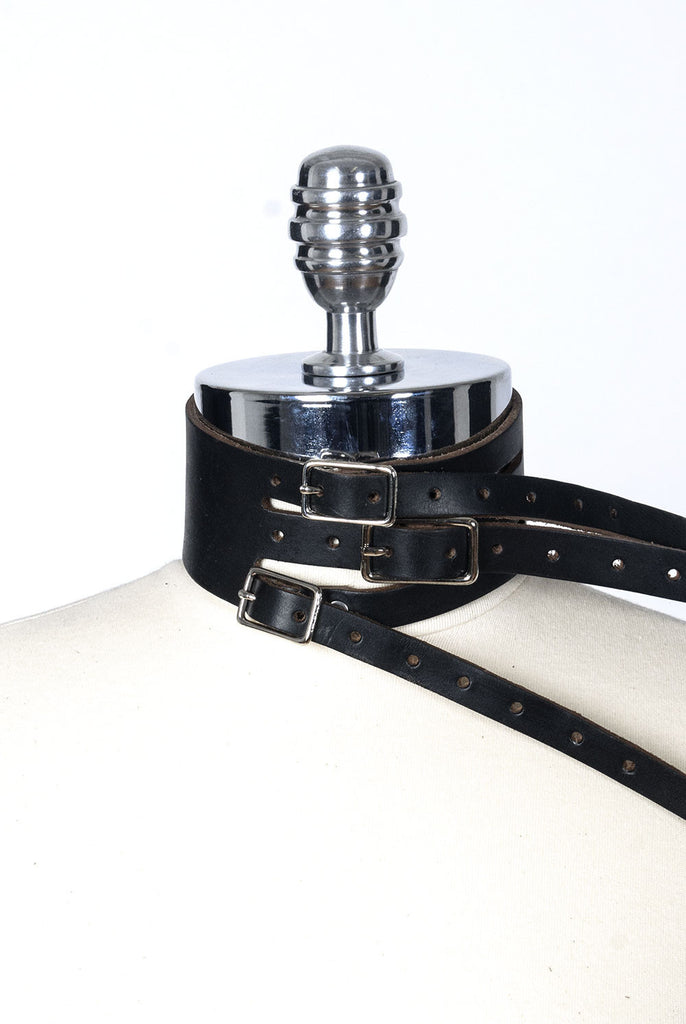 Eve Strap Choker - Black/Natural