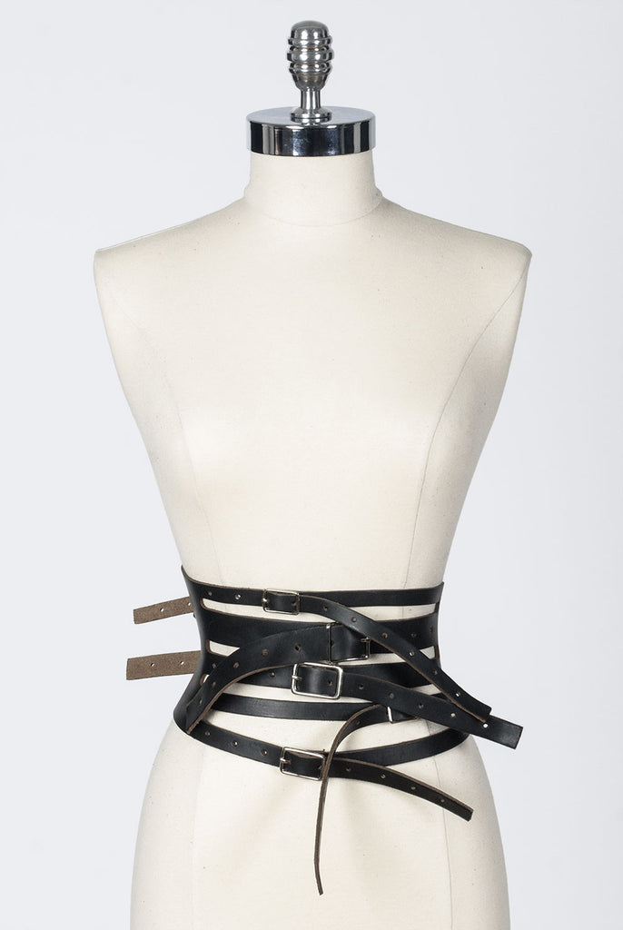 Eve Strap Belt - Black/Natural