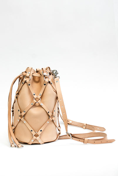 Linked Bucket Backpack - Tan