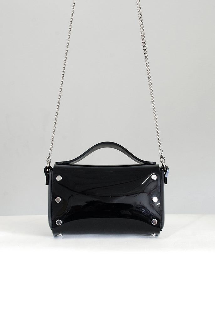 Mini Choker Bag - Black PVC (Vegan)
