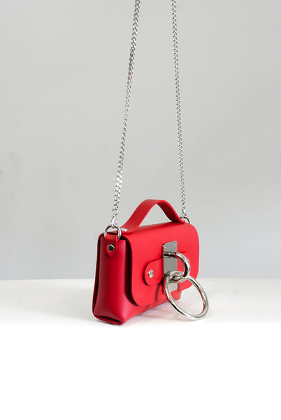 Mini Choker Bag - Red