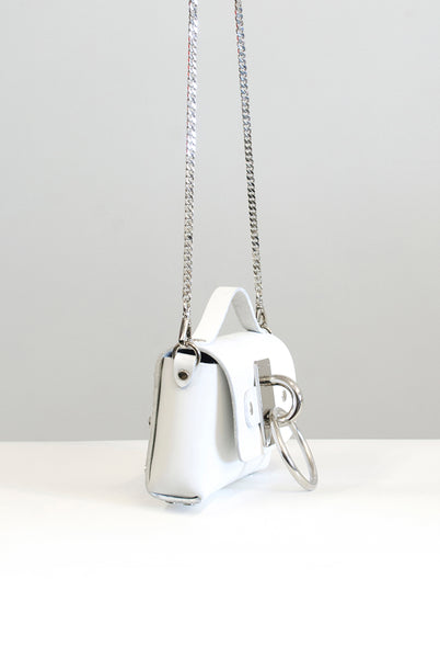 Mini Choker Bag - White