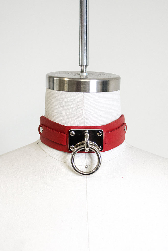"Choker Collar (1.25"") - Red"