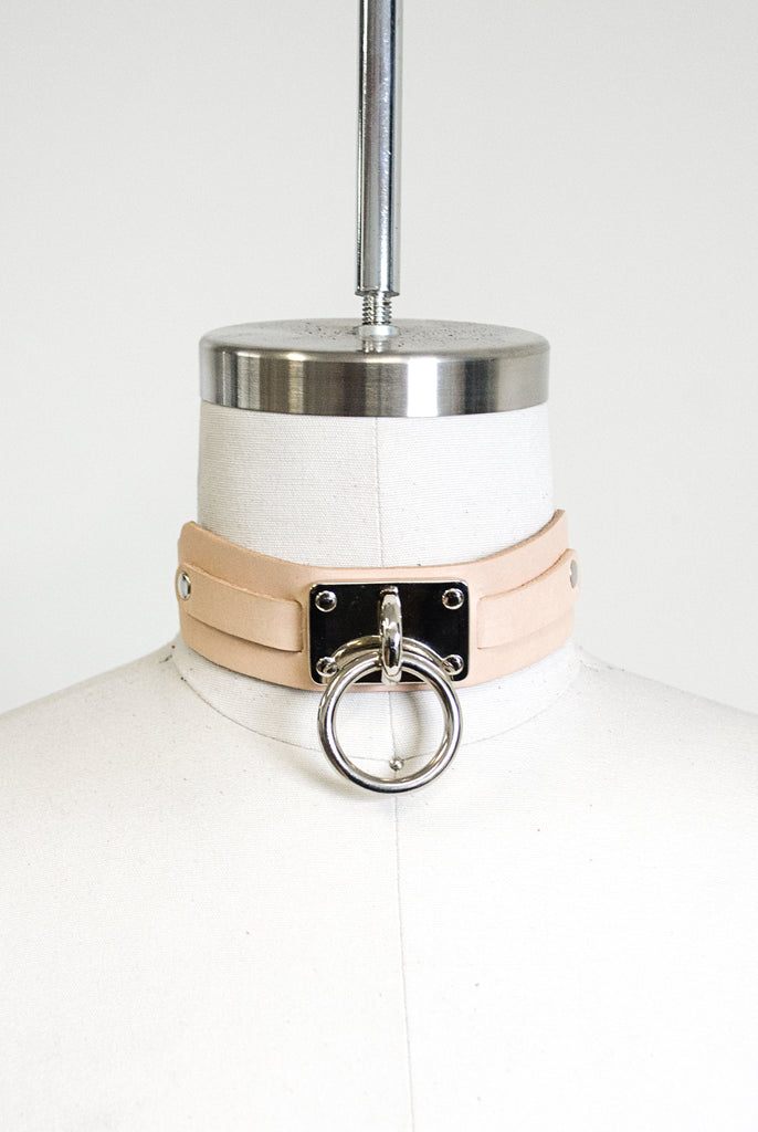 "Choker Collar (1.25"") - Tan"