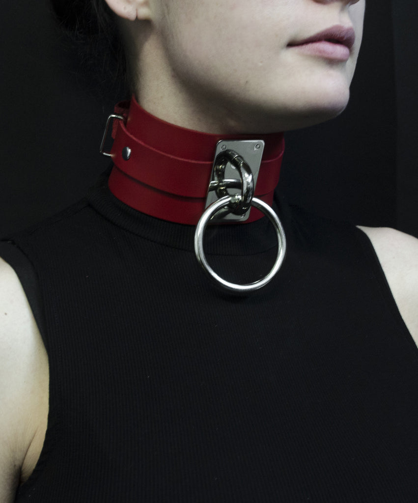"Choker Collar (2.5"") - Red"