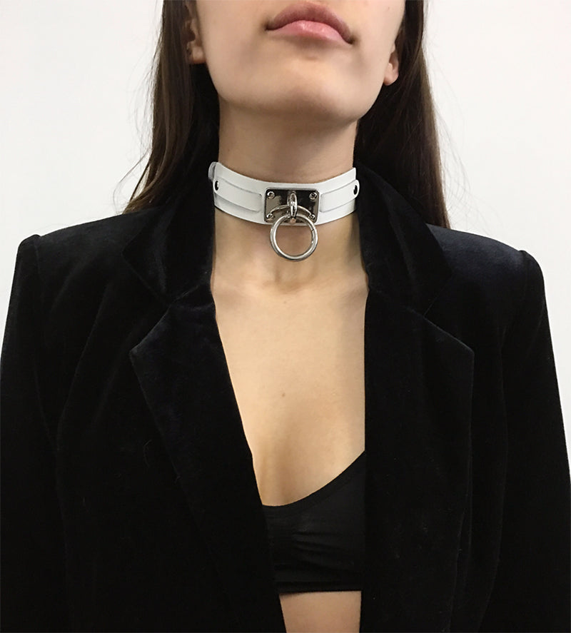 "Choker Collar (1.25"") - Oxblood"
