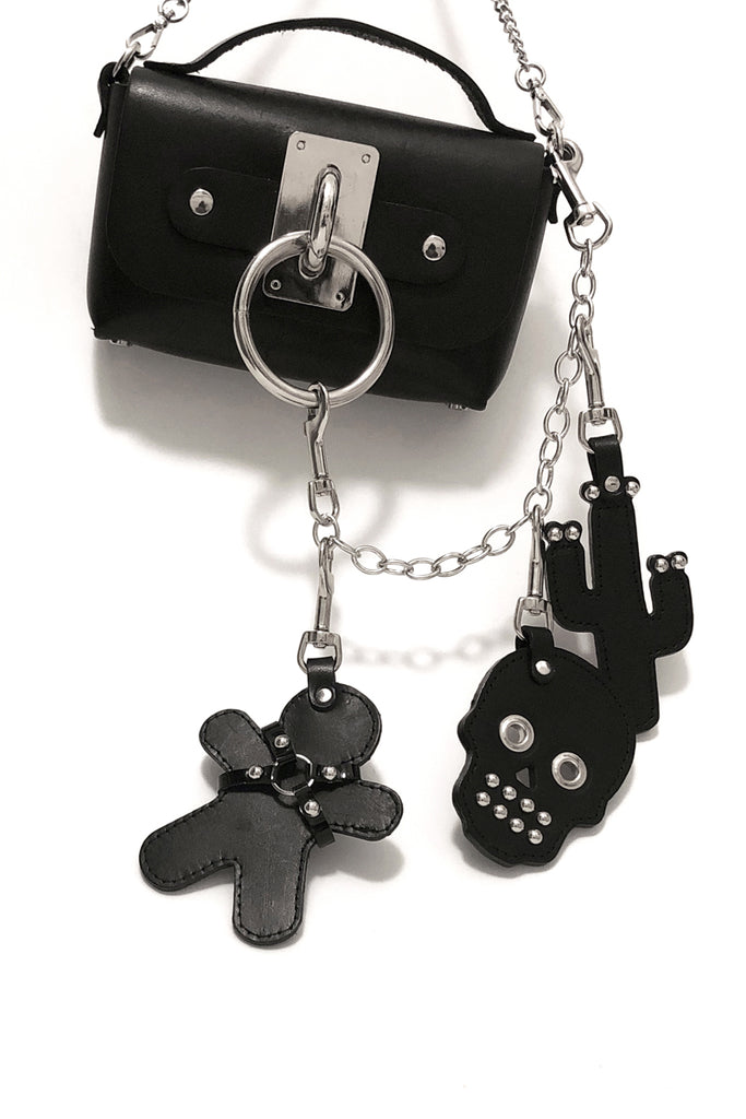 SEE NOW SHIP NOW - Leather Cactus Keychain