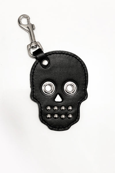 SEE NOW SHIP NOW - Leather Skull Keychain