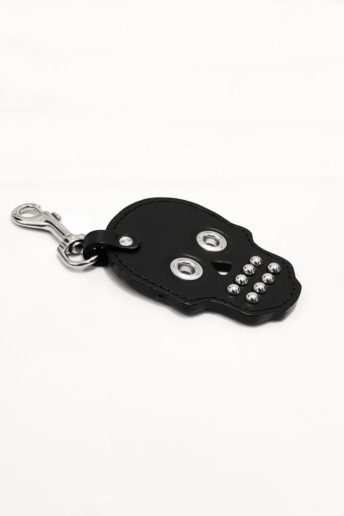Leather Skull Keychain