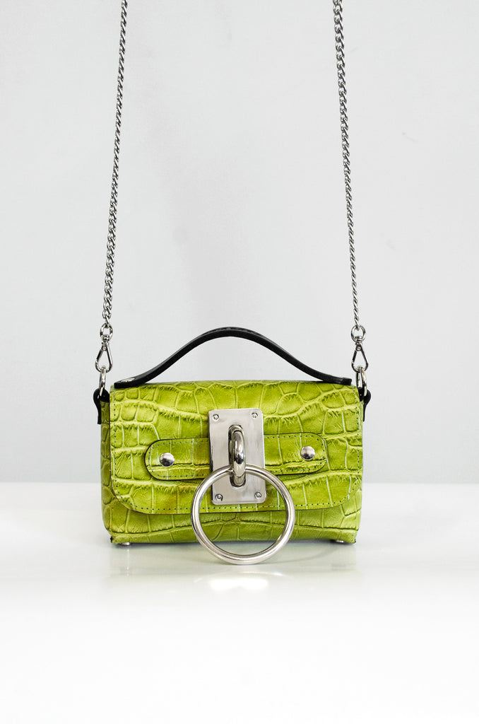 Mini Choker Bag - Croc