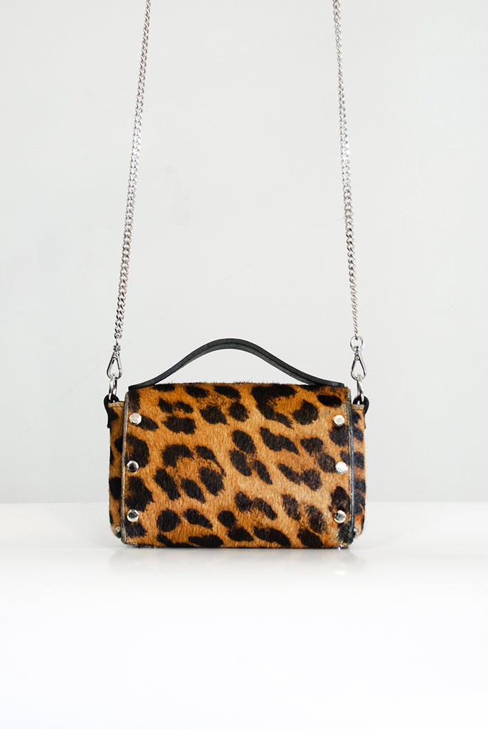 Mini Choker Bag - Leopard