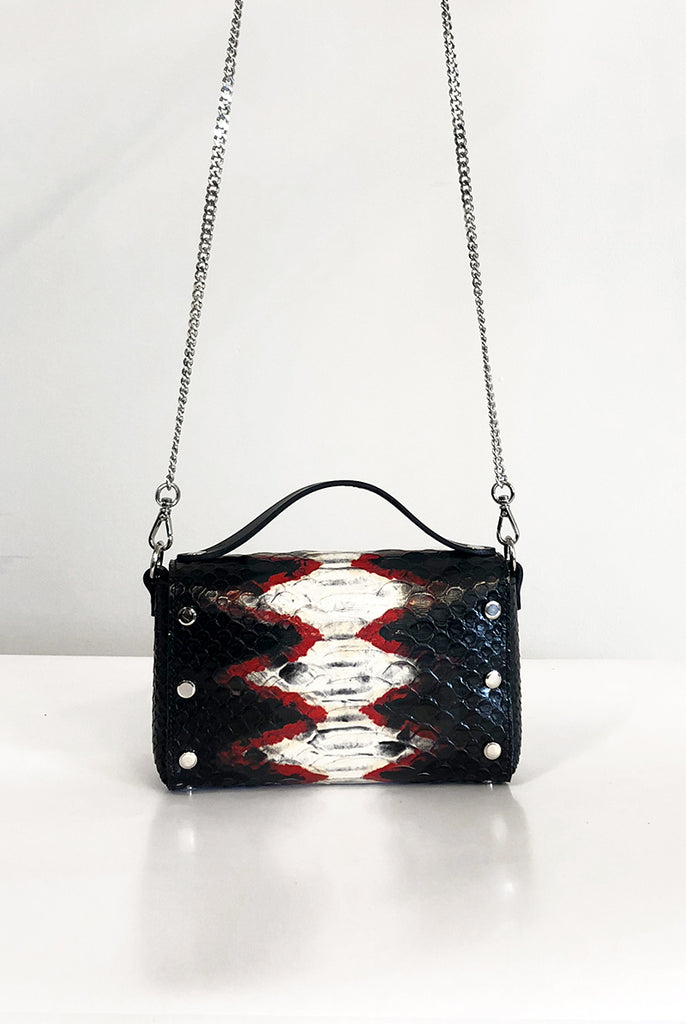 Mini Choker Bag - Tri-Color Snake (embossed)