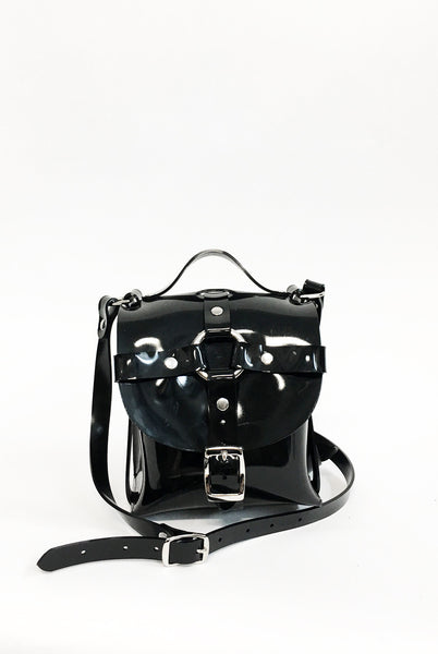 Mini Signature Bag - Black PVC