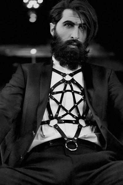 Pentagram Harness - Clear PVC
