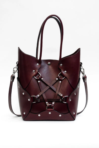 SEE NOW SHIP NOW - Pentagram Handbag - Oxblood
