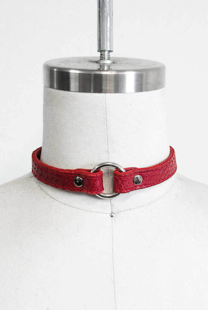 SEE NOW SHIP NOW - Signature Choker - Red Snake