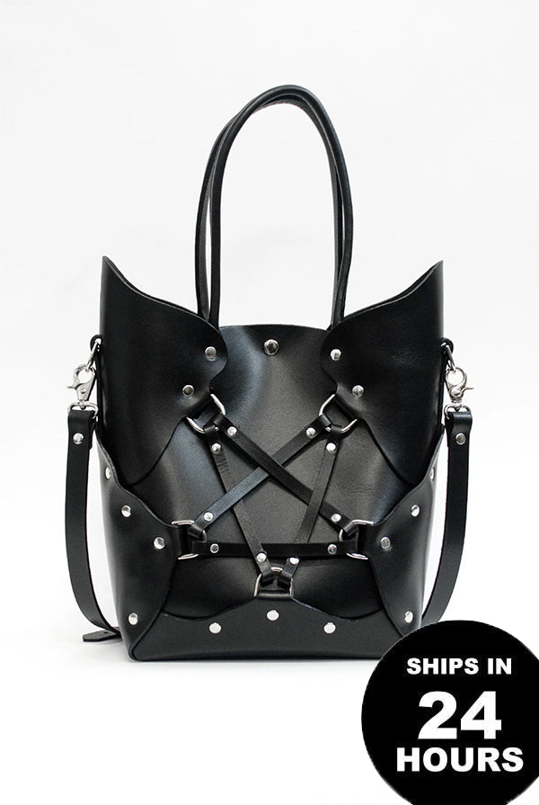 SEE NOW SHIP NOW - Pentagram Handbag - Black