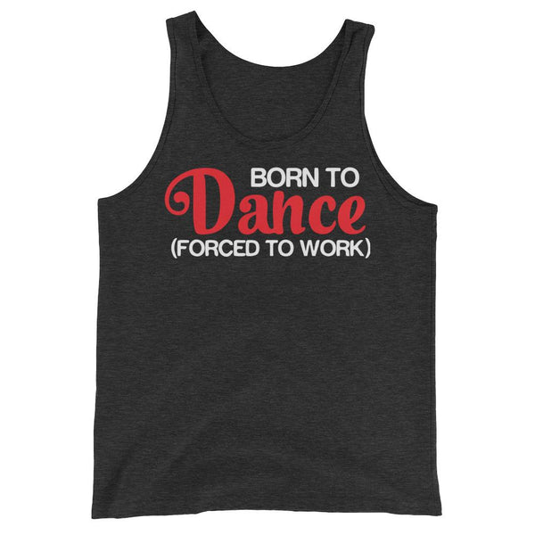 Born To Dance - Men's Tank Top (Charcoal-black Triblend)