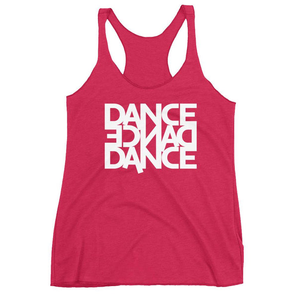 Dance Dance Dance - Women's Tank Top (Vintage Shocking Pink)