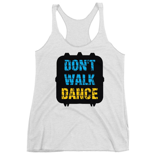 Don't Walk, Dance - Women's Tank Top (Heather White)