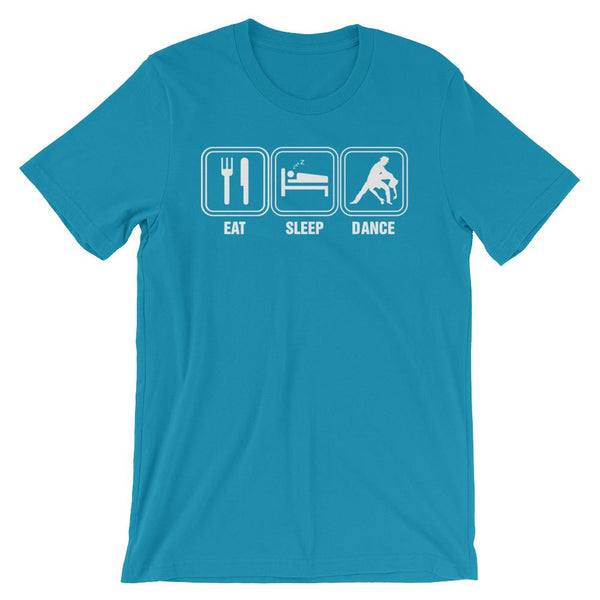 Eat Sleep Dance - Men's T-Shirt (Aqua)