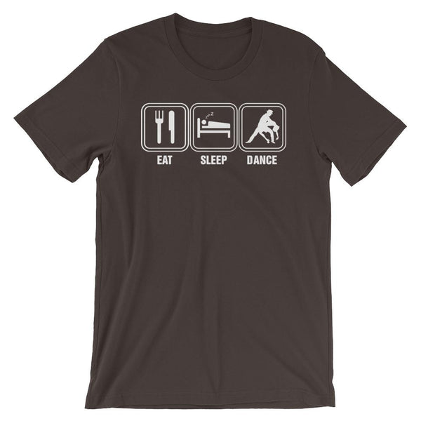 Eat Sleep Dance - Men's T-Shirt (Brown)