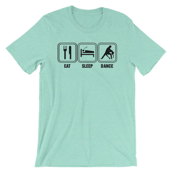 Eat Sleep Dance - Men's T-Shirt (Heather Mint)