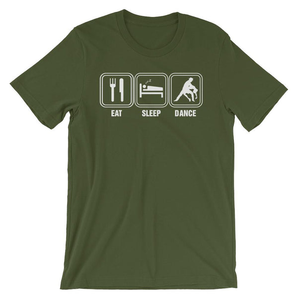 Eat Sleep Dance - Men's T-Shirt (Olive)