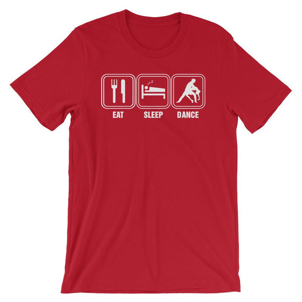 Eat Sleep Dance - Men's T-Shirt (Red)