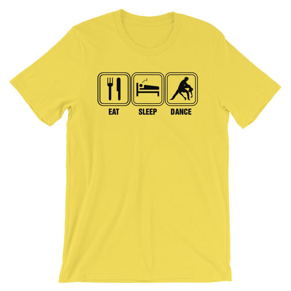 Eat Sleep Dance - Men's T-Shirt (Yellow)