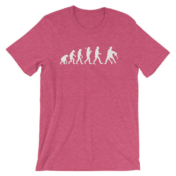 Evolution of Salsa - Men's T-Shirt (Heather Raspberry)