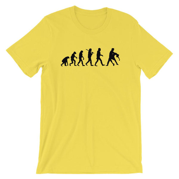 Evolution of Salsa - Men's T-Shirt (Yellow)